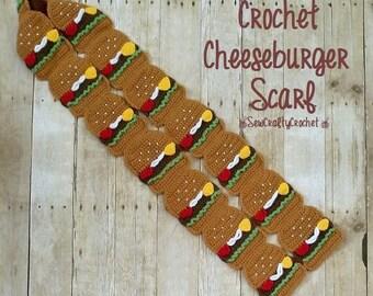 Crochet Cheeseburger Scarf