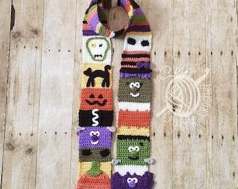 Sparkly Crochet Halloween Scarf