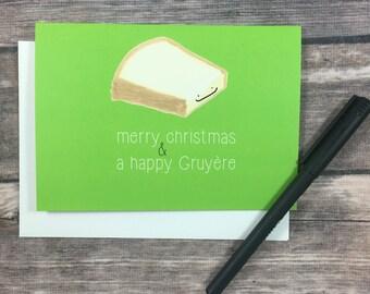 Christmas Cheese Puns.Funny Bah Humbug Sheep Christmas Holiday Card Pun Christmas