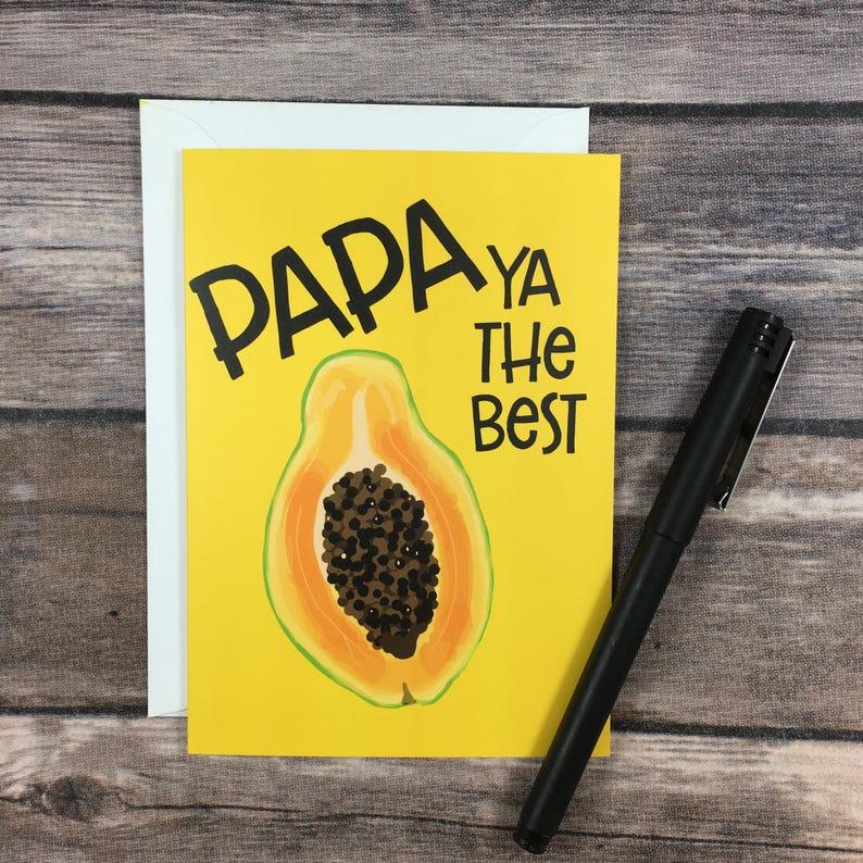 Lustige Papaya Papa Du Bist Der Beste Essen Wortspiel Vater Etsy