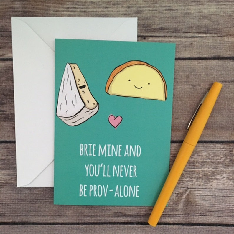 Funny Brie Cheese Pun Valentine's Day I Love You image 0