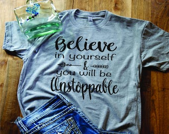 Gifts for her/Ladies shirt/Believe shirt/retro shirt/boho shirt/express yourself tee/Funny Shirt/ Country Shirt, Southern Shirt/Southern tee