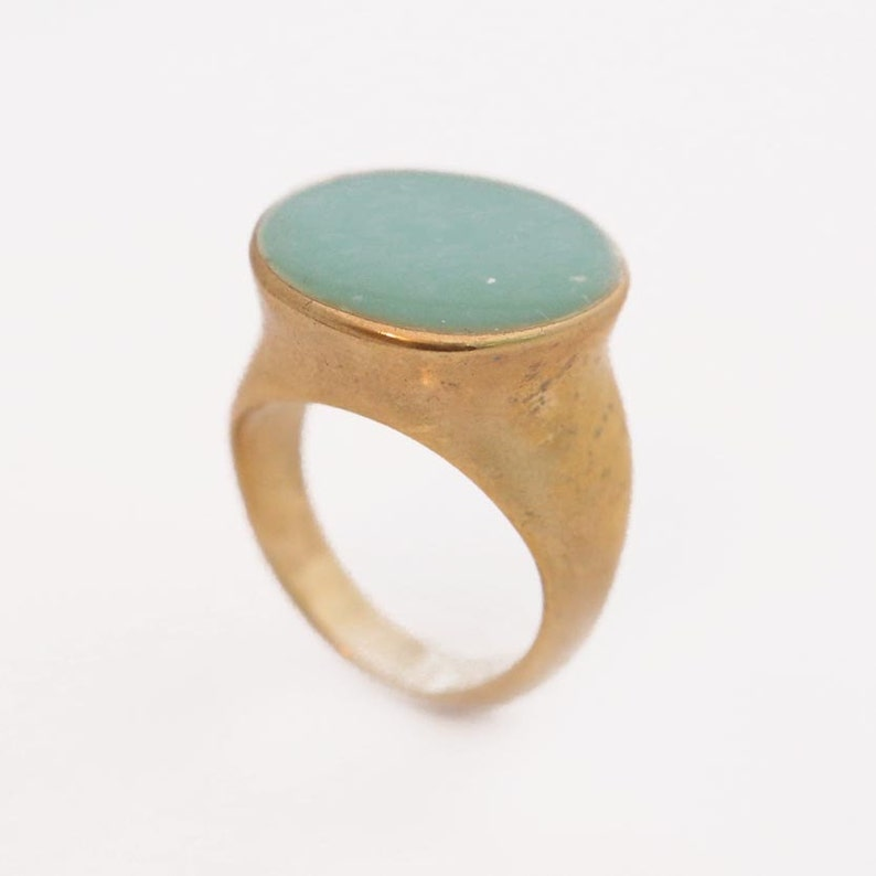 Enamel Ring Gold Plated Girlfriend