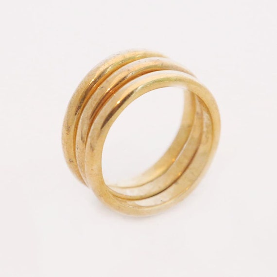 Birthday Gift Gold Stacking Rings 3 Ring Set Stackable Etsy