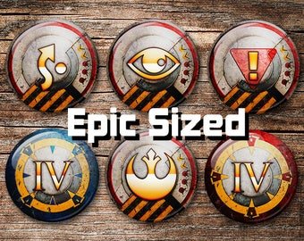 """Red 5 Rebel V3 EPIC SIZED 2.25"""" X-Wing Tokens"""