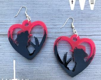 Witches Jewelry Women Halloween stuff Gothic Earrings Spooky Earrings Horror Claws Earrings Spooky Parties. Glass Bird Paw