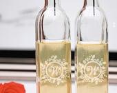 Monogram Olive oil dispenser- monogram vinegar dispenser- etched oil bottle- oil bottle