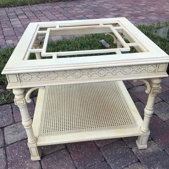 Vintage Thomasville Fretwork End Table