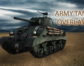 Army Tank Overlays, Separate PNG Files, High Resolution, Instant Download, Buy 3 get 1 free, CUOK.