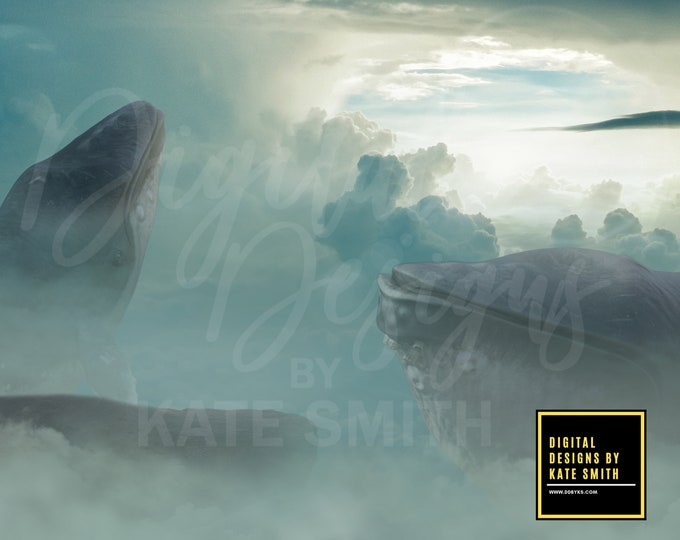 The Lost Whales Digital Backdrop / Background, High Resolution, Instant Download, Buy 3 get 1 free.