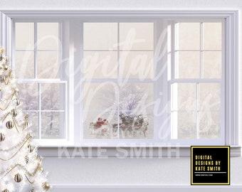 Santa's Visit Digital Backdrop / Background, High Resolution, Instant Download, Buy 3 get 1 free, CUOK.