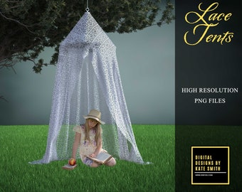 2 Lace Tent Overlays, Separate PNG Files, High Resolution, Instant Download, Buy 3 get 1 free, CUOK.