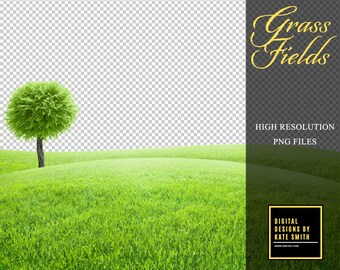 Buy 3 get one free. 5 x Grass Field Overlays, Extra Large Files, High Resolution PNG Files, Instant Download.