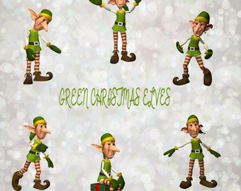 Buy 3 get one free. Pack of 6 green Christmas elf overlays, PNG, Instant Download.