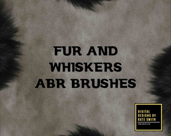 Buy 3 get one free. Fur and Whiskers Photoshop Brushes, High Resolution, ABR Files, Instant Download.