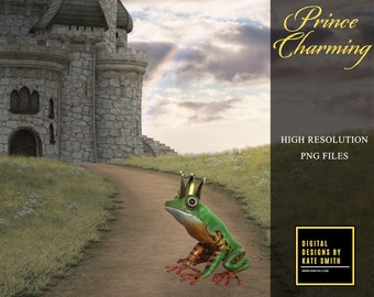 Prince Charming Overlays, Separate PNG Files, High Resolution, Instant Download, Buy 3 get 1 free, CUOK.