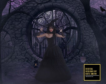 Graveyard Shift Digital Backdrop / Background, High Resolution, Instant Download, Buy 3 get 1 free, CUOK.