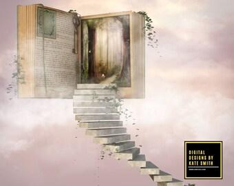 Heavens Story Digital Backdrop / Background, High Resolution, Instant Download. Buy 3 get 1 free.