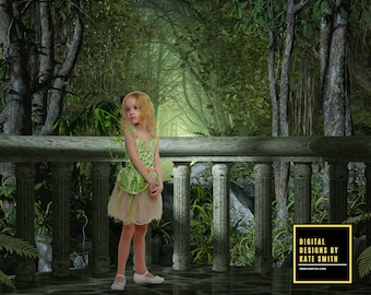 Jungle Balcony Digital Backdrop / Background, High Resolution, Instant Download, Buy 3 get 1 free, CUOK.