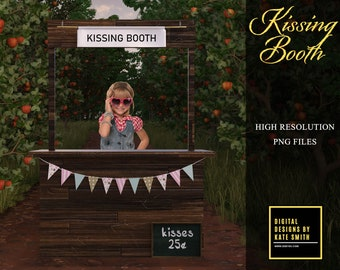 Kissing Booth Overlay, High Resolution Png File. Instant Download, Commercial Use Ok, Buy 3 get 1 free.