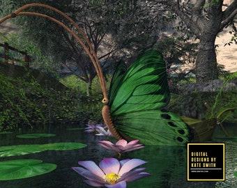 My Dream Land Digital Backdrop / Background, High Resolution, Instant Download. Buy 3 get 1 free.
