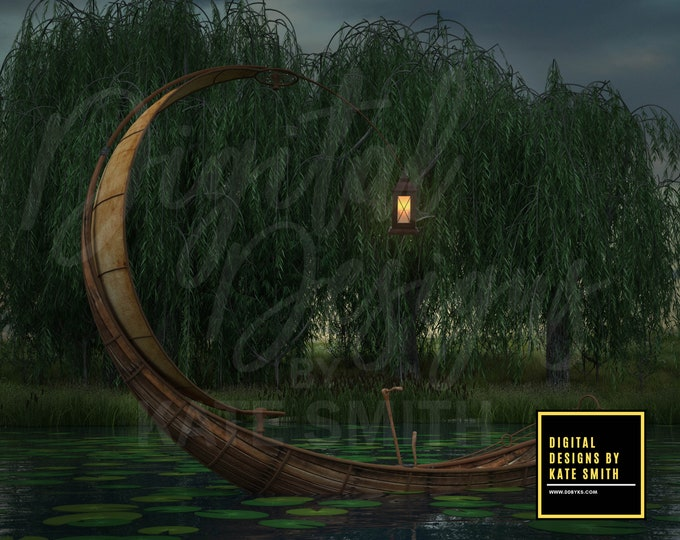 Willow Creek Digital Backdrop / Background, High Resolution, Instant Download, Buy 3 get 1 free, CUOK.