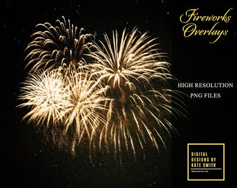 20 Firework Overlays, Separate PNG Files, High Resolution, Instant Download. Buy 3 get one free.
