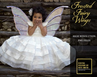 Frosted Fairy Wing Overlays, Separate PNG Files, High Resolution, Instant Download, CUOK, Buy 3 get 1 free.