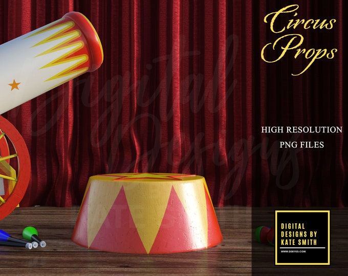 Circus Prop Overlays, Separate PNG Files, High Resolution, Instant Download, CUOK.