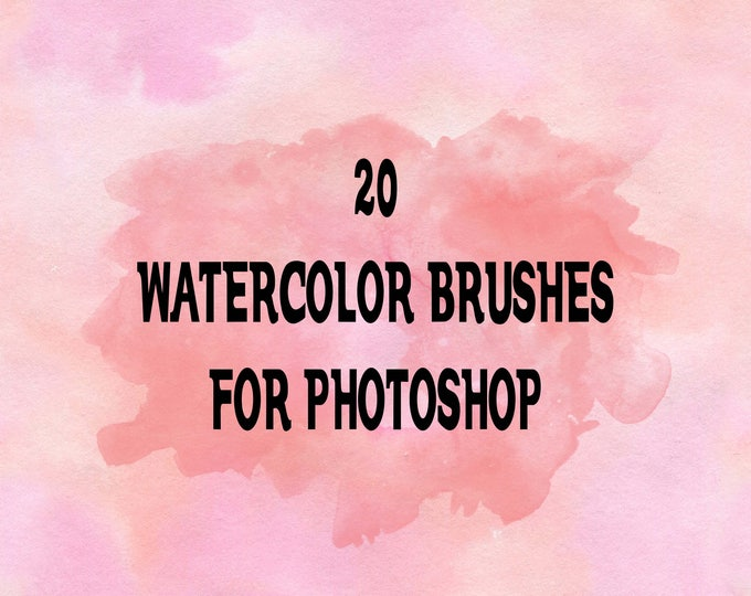 Buy 3 get one free. Watercolor Photoshop Brushes, High Resolution, ABR Files, Instant Download.