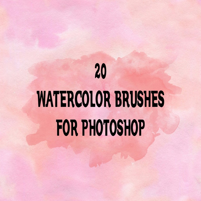 Buy 3 get one free  Watercolor Photoshop Brushes, High Resolution, ABR  Files, Instant Download