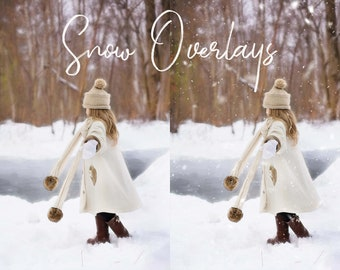14 Snow Overlays, Separate PNG Files, High Resolution, Instant Download, Buy 3 get 1 free.