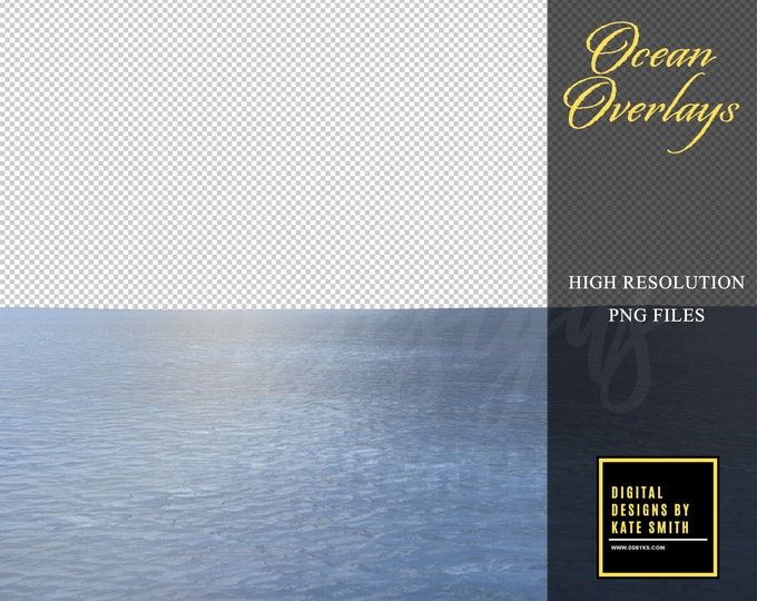 Ocean Overlays, Separate PNG Files, High Resolution, Instant Download, CUOK.