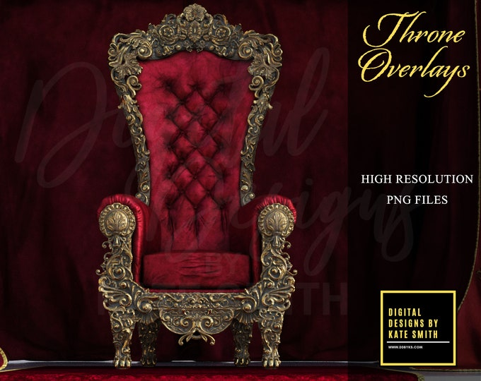 Throne Overlays, Separate PNG Files, High Resolution, Instant Download, CUOK.