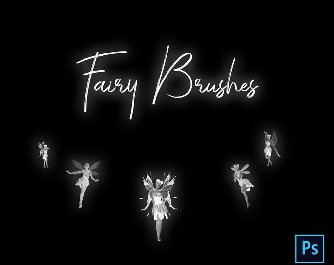 15 High Resolution Fairy Brushes for Photoshop, Instant Download. Buy 3 get 1 free.