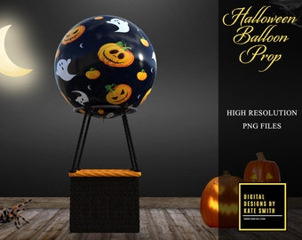 Halloween Balloon Prop Overlay, High Resolution Png File, Instant Download, CUOK. Buy 3 get 1 FREE!