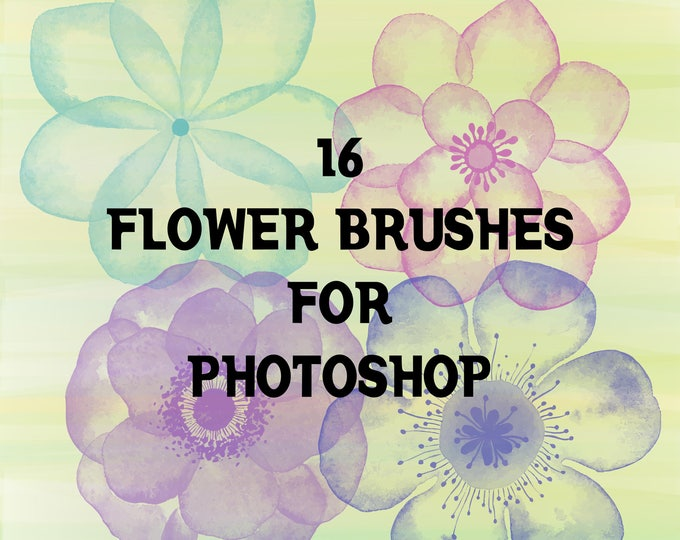 Buy 3 get one free. Flower Photoshop Brushes, High Resolution, ABR Files, Instant Download.
