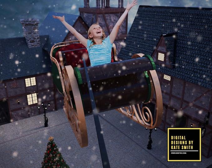 Christmas Deliveries Digital Backdrop / Background, High Resolution, Instant Download, Buy 3 get 1 free, CUOK.