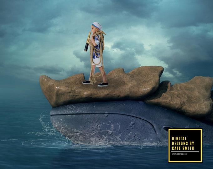Ocean Explorer Digital Backdrop / Background, High Resolution, Instant Download, Buy 3 get 1 free, CUOK.