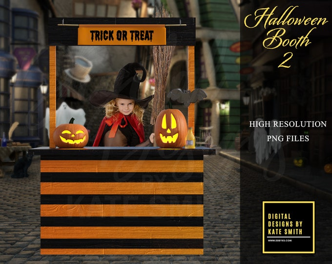 Halloween Booth 2, Separate PNG Files, High Resolution, Instant Download. CUOK, Buy 3 get 1 free!