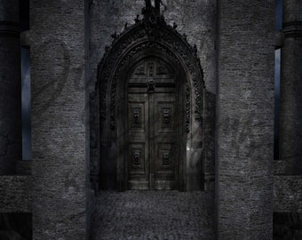 The Dark Castle Digital Backdrop / Background, High Resolution, Instant Download, Buy 3 get 1 free, CUOK.