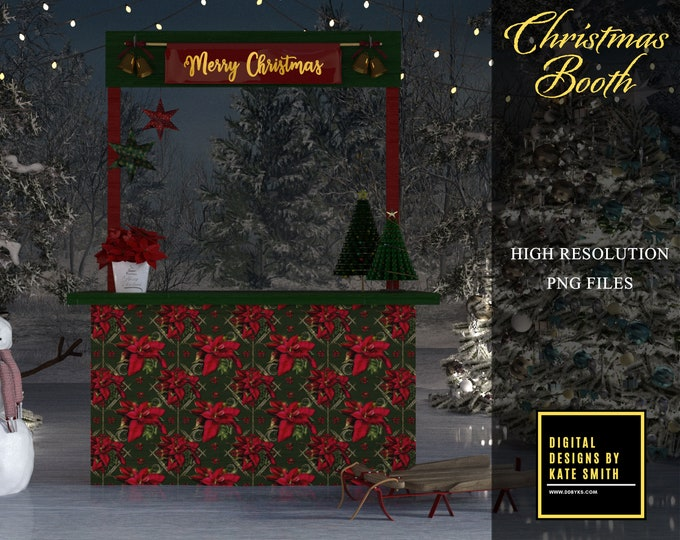Christmas Booth Overlays, Separate PNG Files, High Resolution, Instant Download. CUOK, Buy 3 get 1 free!