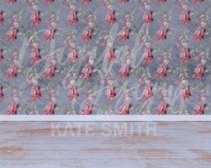 Vintage Floral Room Backdrop / Background, Commercial Use for Pre made Backgrounds, High Resolution, Buy 3 get 1 free.