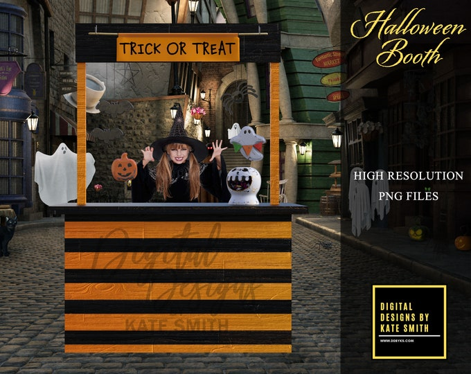 Halloween Booth Overlays, Separate PNG Files, High Resolution, Instant Download. CUOK, Buy 3 get 1 free!