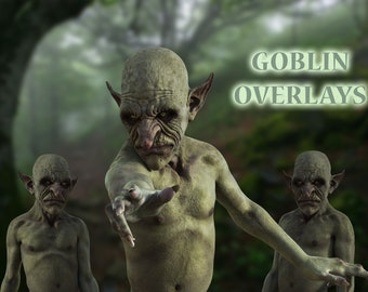 10 Goblin Overlays, Separate PNG Files, High Resolution, Instant Download, Buy 3 get 1 free, CUOK.