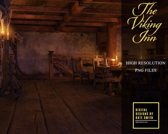 The Viking Inn Overlays, 40 Assorted png files, Separate PNG Files, High Resolution, Instant Download. Buy 3 get 1 free.