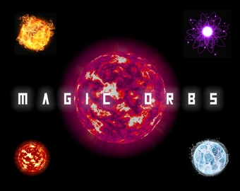 Magical Orb Overlays, Separate PNG Files, High Resolution, Instant Download.