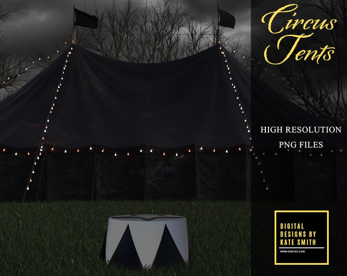 Circus Tent Overlays, Separate PNG Files, High Resolution, Instant Download, CUOK, Buy 3 get 1 free.