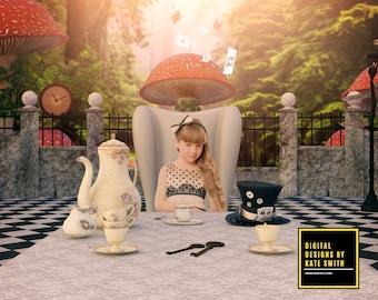 Wild Wonderland Digital Backdrop / Background, High Resolution, Instant Download, Buy 3 get 1 free, CUOK.