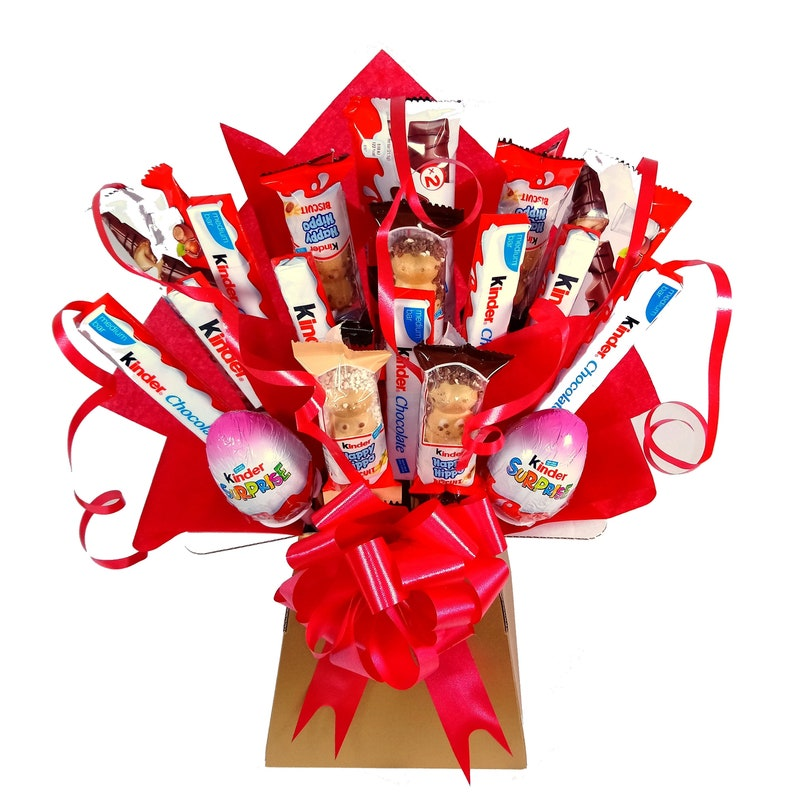 Personalised Kinder Birthday Chocolate Hamper With TagSister
